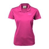 Ladies Nike Golf Dri Fit Fuchsia Micro Pique Polo-NAVS Tone