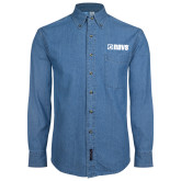 Denim Shirt Long Sleeve-NAVS