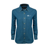 Ladies Denim Long Sleeve Shirt-The Navigators