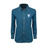 Ladies Denim Long Sleeve Shirt-Glen Eyrie