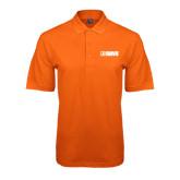 Orange Easycare Pique Polo-NAVS