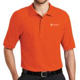 Orange Easycare Pique Polo-Navigators