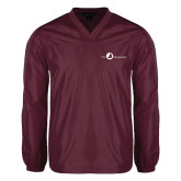 V Neck Maroon Raglan Windshirt-The Navigators