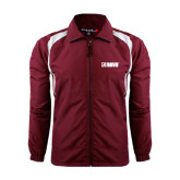 Colorblock Maroon/White Wind Jacket-NAVS