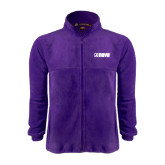Fleece Full Zip Purple Jacket-NAVS