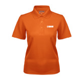 Ladies Orange Dry Mesh Polo-NAVS