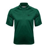 Dark Green Textured Saddle Shoulder Polo-The Navigators Tone