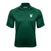 Dark Green Textured Saddle Shoulder Polo-Glen Eyrie