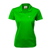 Ladies Nike Golf Dri Fit Vibrant Green Micro Pique Polo-The Navigators Tone