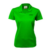 Ladies Nike Golf Dri Fit Vibrant Green Micro Pique Polo-NAVS Tone