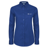 Ladies Royal Twill Button Down Long Sleeve-Navigators