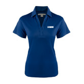 Ladies Navy Performance Fine Jacquard Polo-NAVS