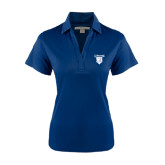 Ladies Navy Performance Fine Jacquard Polo-Glen Eyrie