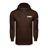 Under Armour Brown Performance Sweats Team Hoodie-NAVS