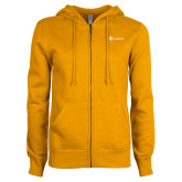 ENZA Ladies Gold Fleece Full Zip Hoodie-Navigators