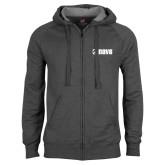 Charcoal Fleece Full Zip Hood-NAVS