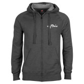 Charcoal Fleece Full Zip Hoodie-Eagle Lake
