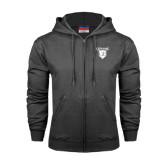 Charcoal Fleece Full Zip Hood-Glen Eyrie