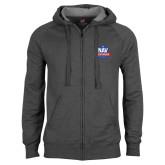 Charcoal Fleece Full Zip Hood-NAV Responder