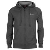Charcoal Fleece Full Zip Hoodie-Navigators