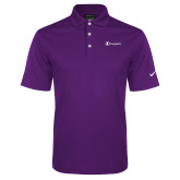 Nike Golf Dri Fit Purple Micro Pique Polo-Navigators