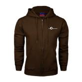 Champion Brown Fleece Full Zip Hood-The Navigators