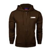Champion Brown Fleece Full Zip Hood-NAVS