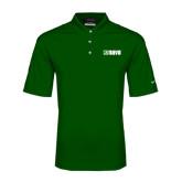 Nike Golf Dri Fit Dark Green Micro Pique Polo-NAVS Tone
