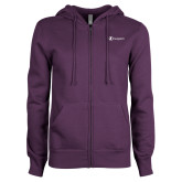 ENZA Ladies Purple Fleece Full Zip Hoodie-Navigators