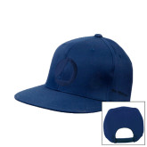 Navy Flat Bill Snapback Hat-Navigators Sail