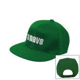 Kelly Green Flat Bill Snapback Hat-NAVS