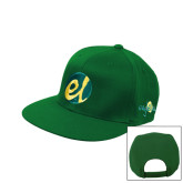 Kelly Green Flat Bill Snapback Hat-El Mark