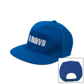 Royal Flat Bill Snapback Hat-NAVS