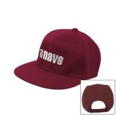 Maroon Flat Bill Snapback Hat-NAVS