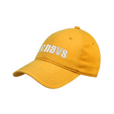 Gold Twill Unstructured Low Profile Hat-NAVS