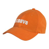 Orange Twill Unstructured Low Profile Hat-NAVS