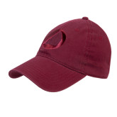 Maroon Twill Unstructured Low Profile Hat-Navigators Sail