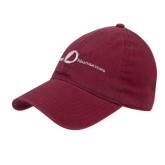 Maroon Twill Unstructured Low Profile Hat-The Navigators