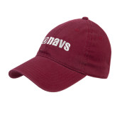Maroon Twill Unstructured Low Profile Hat-NAVS