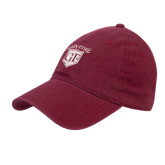 Maroon Twill Unstructured Low Profile Hat-Glen Eyrie