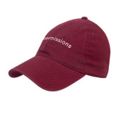 Maroon Twill Unstructured Low Profile Hat-Navmissions