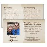 Prayer Card, Personalized front Standard Back-