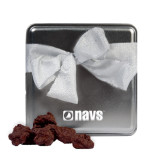 Navigators Decadent Chocolate Clusters Silver Medium Tin-NAVS Engraved
