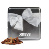 Navigators Deluxe Nut Medley Silver Medium Tin-NAVS Engraved