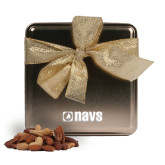 Navigators Deluxe Nut Medley Gold Medium Tin-NAVS Engraved