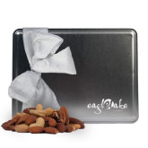 Deluxe Nut Medley Silver Large Tin-Eagle Lake Camps Engraved