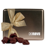 Navigators Decadent Chocolate Clusters Gold Large Tin-NAVS Engraved