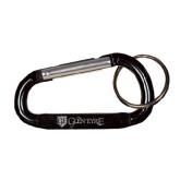 Black Carabiner with Split Ring-Glen Eyrie - Flat Engraved