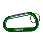 Green Carabiner with Split Ring-NAVS Engraved