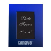 Royal Brushed Aluminum 3 x 5 Photo Frame-NAVS Engraved